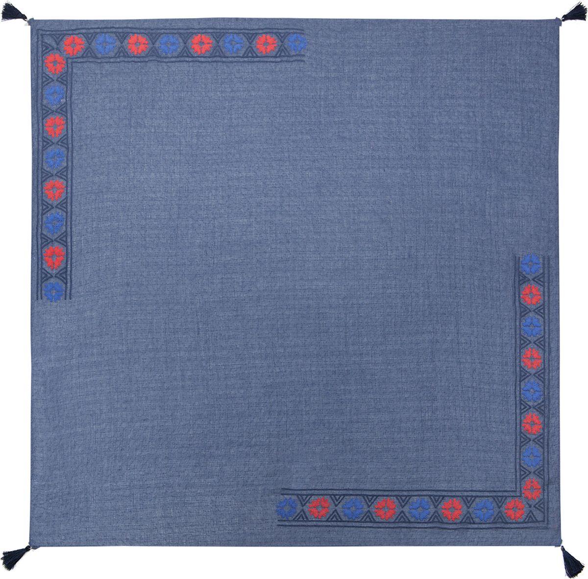 Платок женский Labbra, цвет: синий. LG20-580. Размер 90 см х 90 смLG20-580Платок Labbra, выполненный из хлопка и ткани тенсель, идеально дополнит образ современной женщины. Модель оформлена принтом. Изделие украшено декоративными кисточками. Классическая квадратная форма позволяет носить платок на шее, украшать им прическу или декорировать сумочку. С таким замечательным аксессуаром вы всегда будете выглядеть женственной и привлекательной.