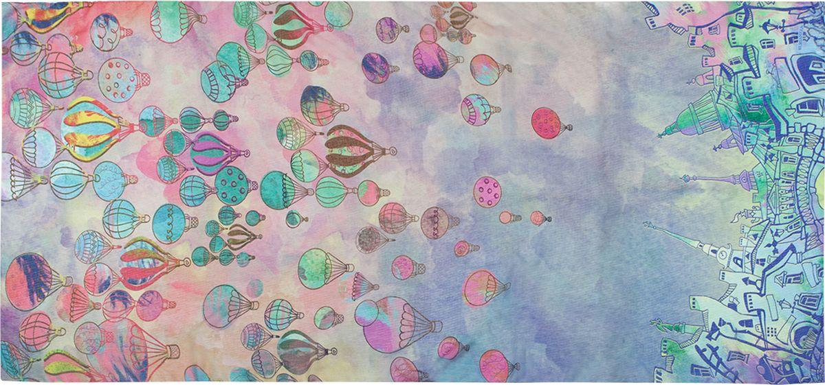 Палантин Eleganzza, цвет: розовый. R29-5042. Размер 80 см х 200 смR29-5042Палантин Eleganzza изготовлен из шелка с добавлением хлопка и бамбука. Модель украшена оригинальным принтом. Этот модный аксессуар гармонично дополнит ваш образ.