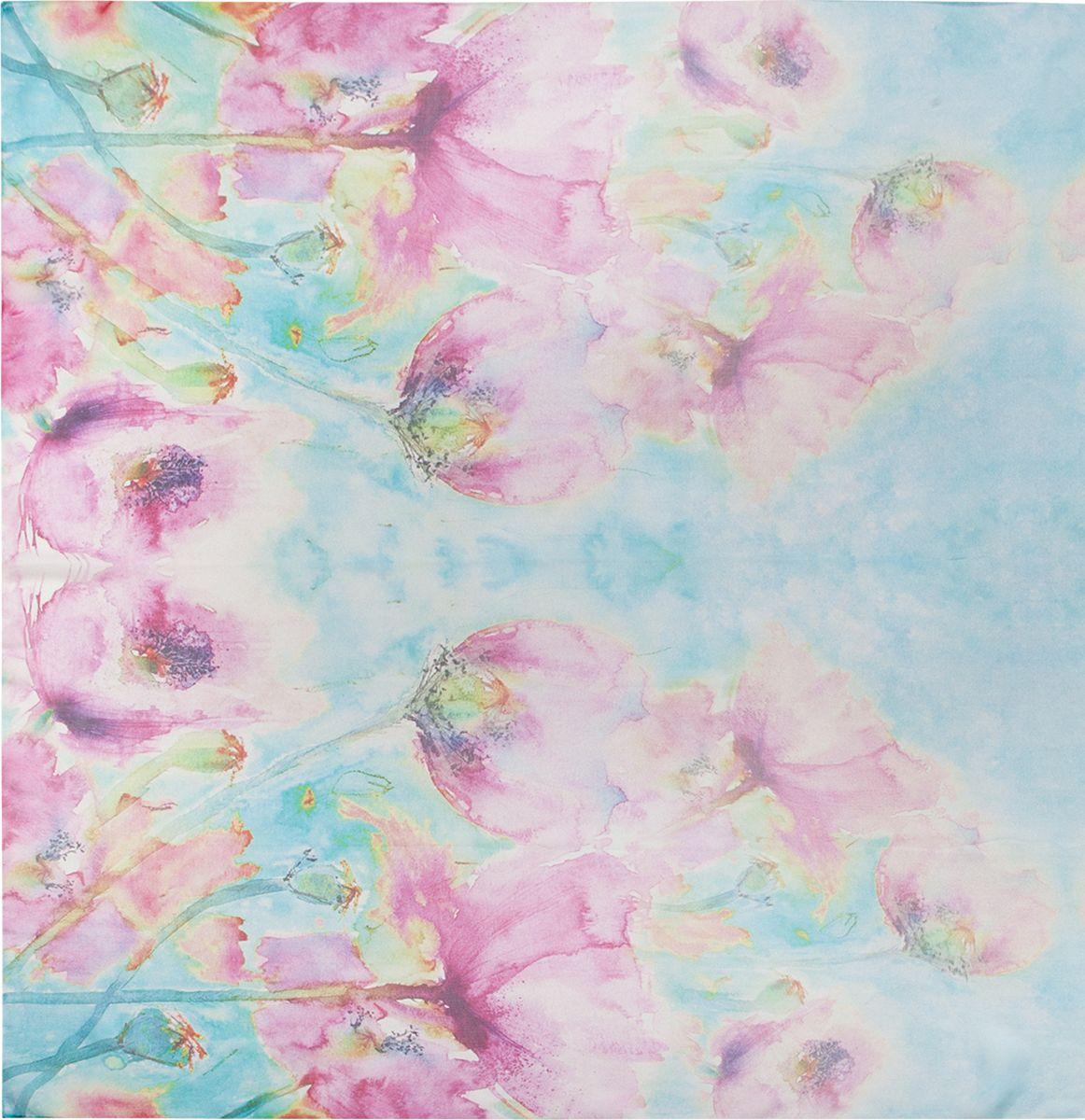 Палантин Eleganzza, цвет: розовый, голубой. SS02-7804. Размер 110 см х 180 смSS02-7804Палантин Eleganzza изготовлен из шелка. Модель украшена цветочным принтом. Этот модный аксессуар гармонично дополнит ваш образ.