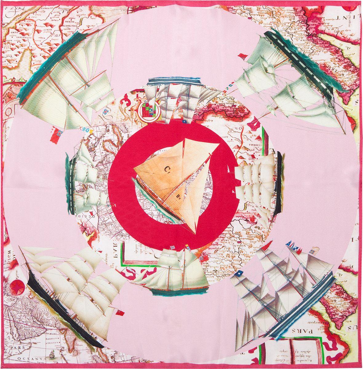 Платок женский Eleganzza, цвет: бордовый. SS03-7868. Размер 55 см х 55 смSS03-7868Платок Eleganzza, выполненный из шелка, оформлен оригинальным принтом.Классическая квадратная форма позволяет носить платок на шее, украшать им прическу или декорировать сумочку.
