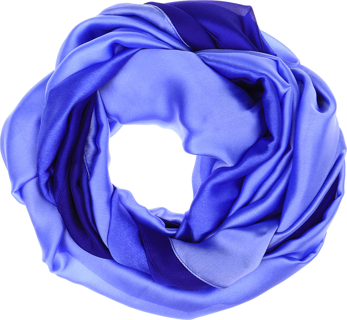 Палантин Vita Pelle, цвет: васильковый. Ro02PG1637/3. Размер 90 см х 180 смRo02PG1637/3Палантин от Vita Pelle изготовлен из шелка с добавлением полиэстера и рами. Модель оформлена градиентным переходом и тонкой подгибкой по краям.