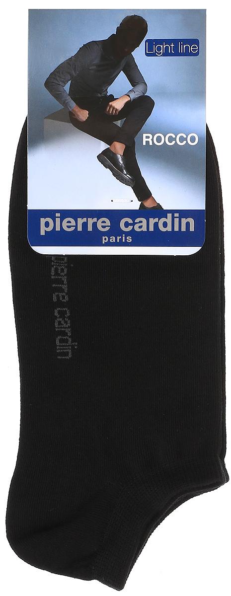 Носки мужские Pierre Cardin Cr Rocco, цвет: черный. Размер 29/31 (45/47)Cr RoccoУкороченные носки Pierre Cardin Light Line изготовлены из хлопка с добавлением полиамида и эластана. Носки дополнены надписью с названием бренда. Эластичная резинка плотно облегает ногу, не сдавливая ее.