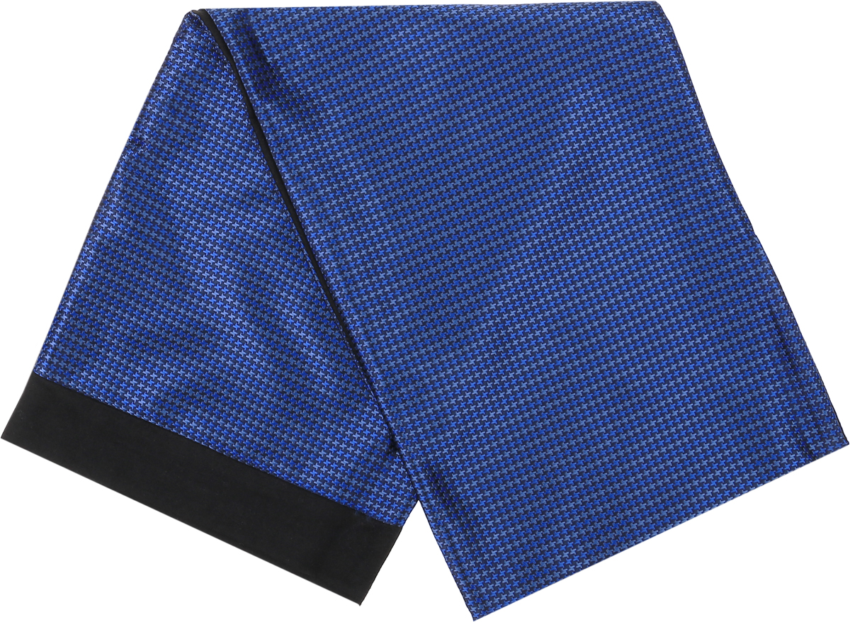 Шарф Vittorio Richi, цвет: синий, черный. Ro02G100-2981-15. Размер 25 см х 138 смRo02G100-2981-15Стильный шарф Vittorio Richi изготовлен из полиэстера и шелка. Шарф оформлен мелким рисунком. Края и внутренняя сторона выполнены из мягкой однотонной ткани.
