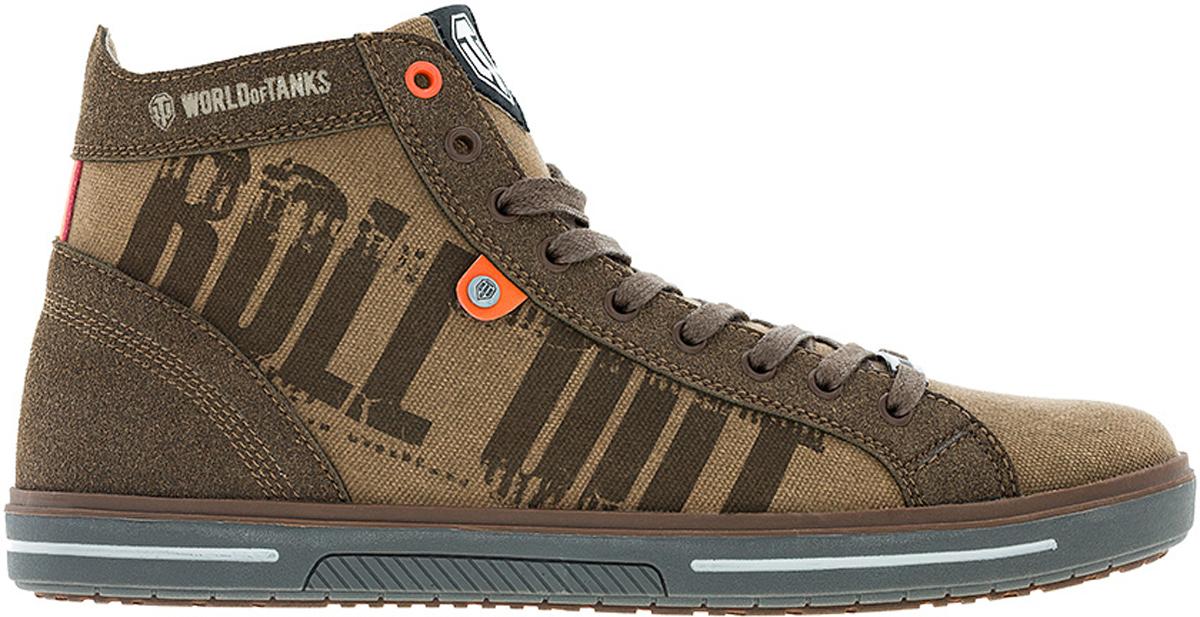 Кеды мужские Kakadu Wot, цвет: коричневый. 6714A. Размер 416714AМодные высокие кеды WoT от Kakadu - отличный выбор для тех, кто ведет активный образ жизни. Модель в стиле милитари выполнена из плотного текстиля и искусственной кожи. Классическая шнуровка обеспечивает надежную фиксацию обуви на ноге. Внутренняя поверхность из текстиля и полиэстера создает комфорт при движении. Съемная формованная стелька удобна в эксплуатации и позволяет быстро просушивать обувь. Резиновая подошва имеет отличную амортизацию, благодаря чему снижается нагрузка на суставы и позвоночник. Рифление на подошве гарантирует отличное сцепление с любыми поверхностями. Стильные и удобные кеды займут достойное место в гардеробе современного мужчины.