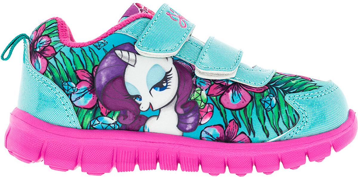 Кроссовки для девочки Kakadu My Little Pony, цвет: бирюзовый, розовый. 6736A. Размер 256736AСтильные кроссовки My Little Pony от Kakadu - отличный выбор для вашей малышки на каждый день. Верх модели выполнен из синтетической кожи и дышащего текстиля. Кроссовки оформлены принтом с изображением персонажей мультсериала My Little Pony. Ремешки на застежках-липучках обеспечивают надежную фиксацию обуви на ноге. Подкладка из хлопкового материала создает комфорт при носке. Съемная стелька удобна в эксплуатации и позволяет быстро просушивать обувь. Облегченная подошва выполнена из ЭВА-материала.Рифление на подошве обеспечивает отличное сцепление с любой поверхностью.Модные и комфортные кроссовки - необходимая вещь в гардеробе каждого ребенка.