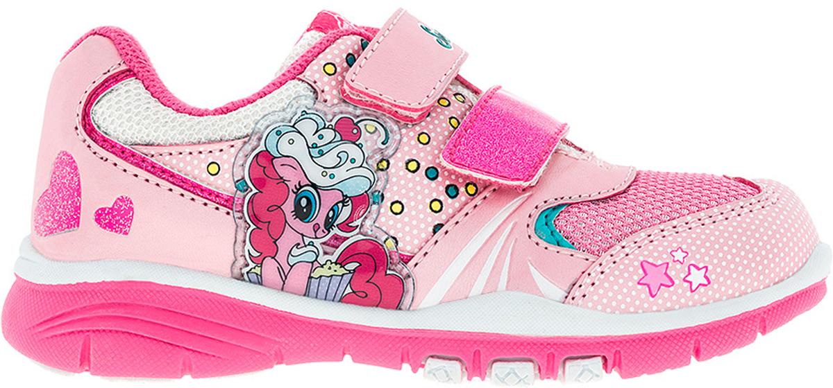 Кроссовки для девочки Kakadu My Little Pony, цвет: розовый. 6737A. Размер 276737AСтильные кроссовки My Little Pony от Kakadu - отличный выбор для вашей малышки на каждый день. Верх модели выполнен из синтетической кожи и дышащего текстиля. Кроссовки оформлены принтом с изображением персонажей мультсериала My Little Pony. Ремешки на застежках-липучках обеспечивают надежную фиксацию обуви на ноге. Подкладка из хлопкового материала создает комфорт при носке. Съемная стелька удобна в эксплуатации и позволяет быстро просушивать обувь. Подошва выполнена из резины.Рифление на подошве обеспечивает отличное сцепление с любой поверхностью.Модные и комфортные кроссовки - необходимая вещь в гардеробе каждого ребенка.