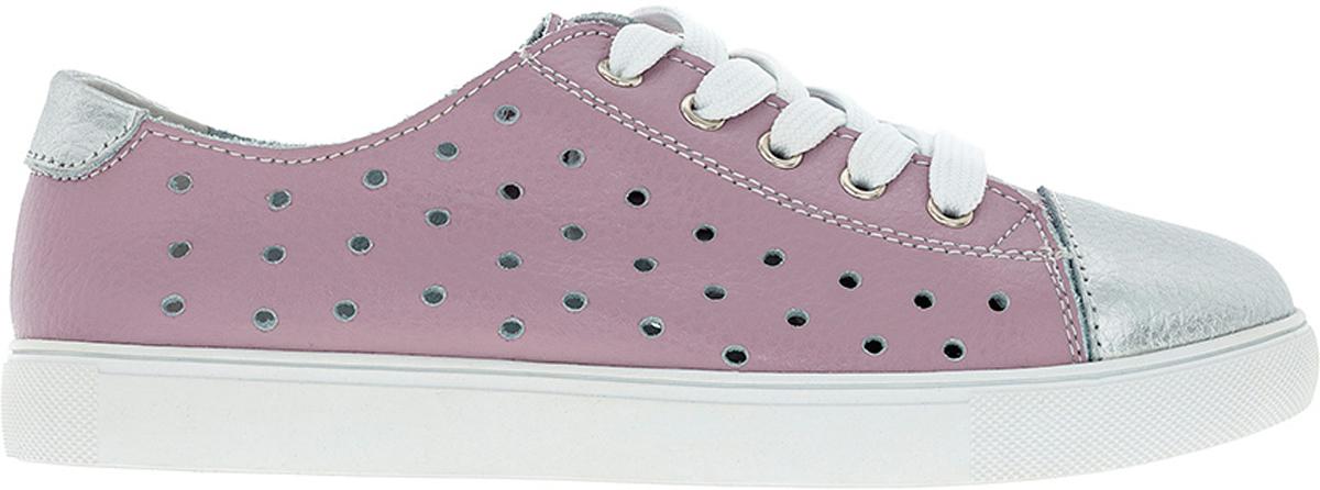 Кеды для девочек Kakadu Begonia, цвет: розовый. 6786C. Размер 376786CКеды для девочек от Begonia - это красивая и удобная обувь для повседневной носки, дополнены перфорацией, которая придаёт обуви лёгкость и оригинальность. Верх и подкладка выполнены из качественной натуральной кожи, обеспечивающей воздухообмен и отведение излишней влаги. Подошва изготовлена из плотной износостойкой резины, устойчивой к многократным изгибам. Быстрая регулировка объема достигается с помощью шнуровки.