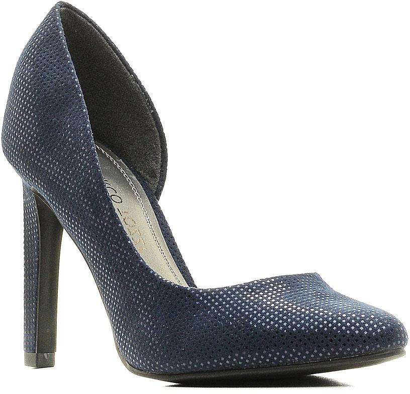 Туфли женские Marco Tozzi, цвет: синий металлик. 2-2-22417-28-824/215. Размер 372-2-22417-28-824/215Стильные женские туфли от Marco Tozzi займут достойное место в вашем гардеробе! Модель изготовлена из текстиля и исполнена в лаконичном стиле. Заостренный вытянутый носок смотрится невероятно женственно.Изысканные туфли добавят шика в модный образ и подчеркнут ваш безупречный вкус.