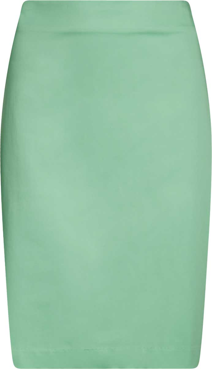 Юбка oodji Collection, цвет: ментоловый. 21608006-4B/42307/6500N. Размер 36-170 (42-170)21608006-4B/42307/6500NСтильная юбка-карандаш выполнена из эластичного хлопка. Сзади модель застегивается на потайную застежку-молнию и дополнена разрезом.