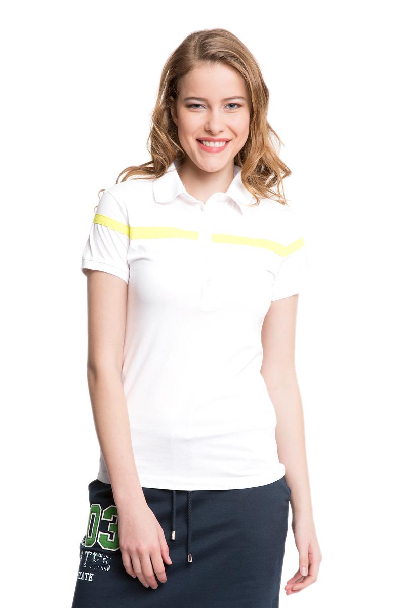 Поло женское U.S. Polo Assn., цвет: белый. G082CS011P10I3041. Размер S (44)G082CS011P10I3041Стильная футболка-поло с короткими рукавами и отложным воротником выполнена из натурального хлопка. На груди модель застегивается на пуговицы.