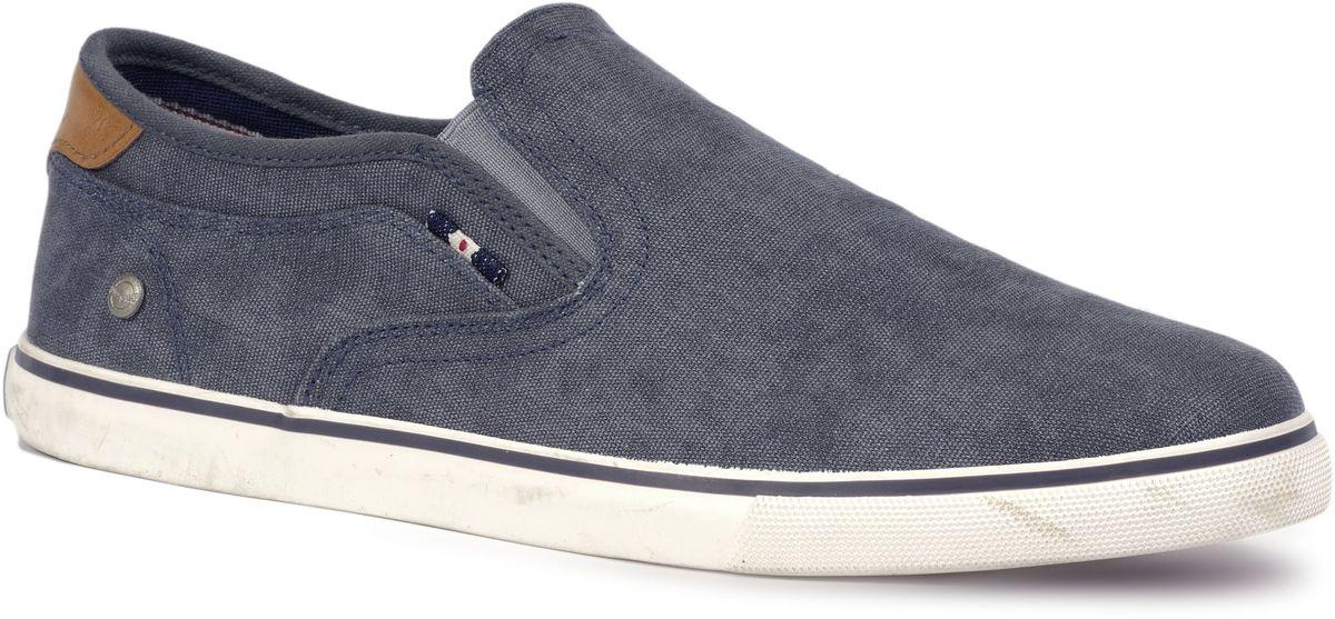 Слипоны мужские Wrangler Mitos Slip On, цвет: серо-синий. WM171022-16. Размер 41WM171022-16Стильные мужские слипоны Mitos Slip On от Wrangler выполнены из текстиля. Подкладка и стелька из текстиля комфортны при движении. Эластичные вставки по бокам обеспечивают идеальную посадку модели на ноге. Подошва дополнена рифлением.