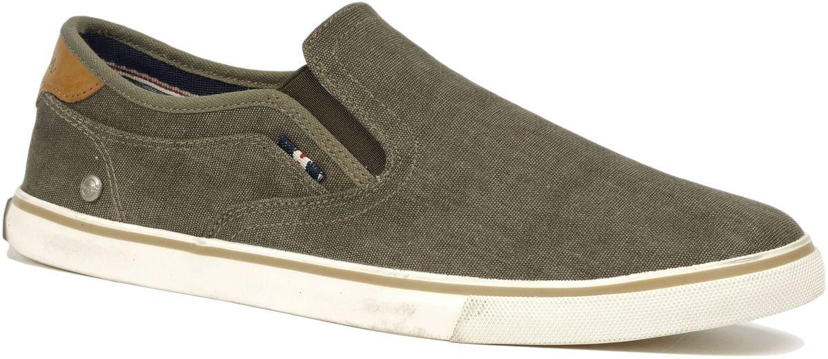 Слипоны мужские Wrangler Mitos Slip On, цвет: хаки. WM171022-20. Размер 42WM171022-20Стильные мужские слипоны Mitos Slip On от Wrangler выполнены из текстиля. Подкладка и стелька из текстиля комфортны при движении. Эластичные вставки по бокам обеспечивают идеальную посадку модели на ноге. Подошва дополнена рифлением.