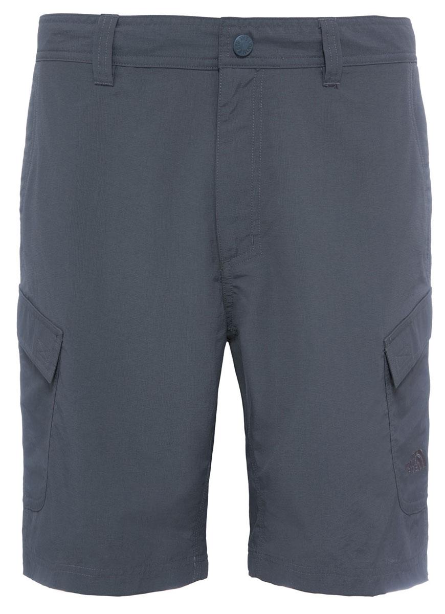 Шорты мужские The North Face M Horizon Short, цвет: серый. T0CF720C5. Размер 32 (48)T0CF720C5The North Face Men's Horizon Cargo Shorts - легкие и удобные шорты для путешествий, обладающие степенью защиты от ультрафиолета UPF 50. Ультралегкая рипстоп-ткань, имеющая экологический сертификат bluesign долговечна и быстро сохнет. Модель застегивается на ширинку с молнией и металлическую кнопку, имеются шлевки для ремня. Шорты дополнены карманами.