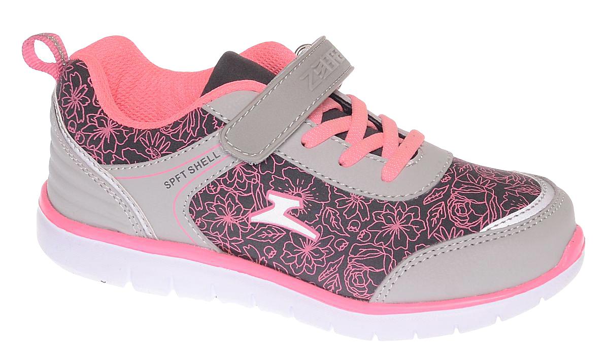 Кроссовки для девочки Зебра, цвет: серый, розовый. 11638-19. Размер 3311638-19Стильные кроссовки от Зебра выполнены из дышащего текстиля. На ноге модель фиксируется с помощью шнуровки и ремешка на липучке. Внутренняя поверхность из текстиля комфортна при движении. Стелька выполнена из натуральной кожи и дополнена супинатором, который обеспечивает правильное положение ноги ребенка при ходьбе, предотвращает плоскостопие. Подошва с рифлением обеспечивает идеальное сцепление с любыми поверхностями.