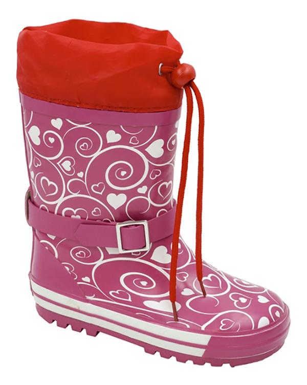 Сапоги резиновые для девочки Зебра, цвет: розовый. 11102-9. Размер 3211102-9Резиновые сапоги от Зебра выполнены из качественной резины и оформлены оригинальным принтом. Модель дополнена текстильным верхом, объем которого регулируется за счет шнурка с фиксатором. Подкладка выполнена из текстиля.