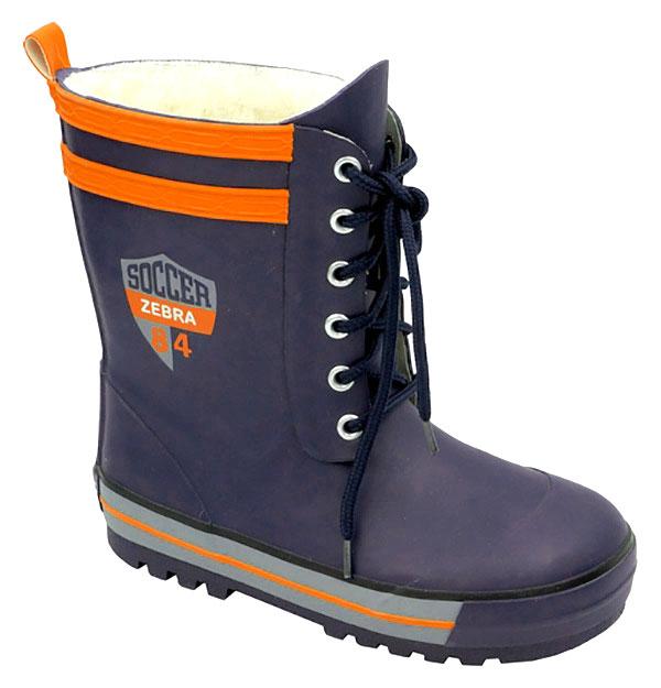 Сапоги резиновые для мальчика Зебра, цвет: синий. 11096-5. Размер 3211096-5Резиновые сапоги от Зебра выполнены из качественной резины, на ноге фиксируются при помощи шнуровки. Подкладка выполнена из текстиля.