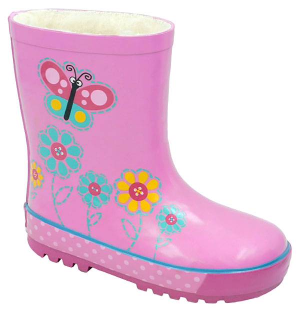 Сапоги резиновые для девочки Зебра, цвет: розовый. 11092-9. Размер 2711092-9Резиновые сапоги от Зебра выполнены из качественной резины и оформлены оригинальным принтом. Подкладка выполнена из текстиля.