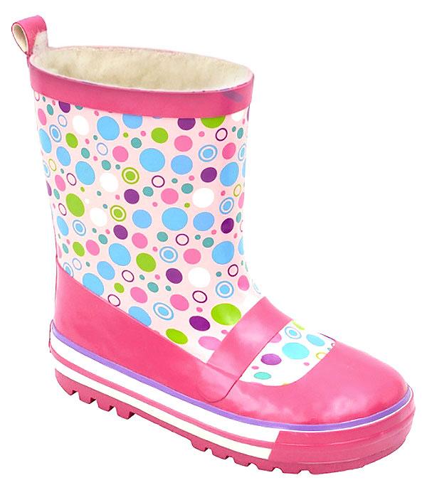Сапоги резиновые для девочки Зебра, цвет: розовый. 11091-9. Размер 2711091-9Резиновые сапоги от Зебра выполнены из качественной резины и оформлены оригинальным принтом. Подкладка выполнена из текстиля.