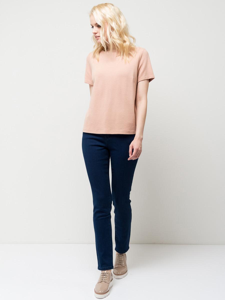 Свитшот женский Sela, цвет: розовый песок. Sts-113/029-7152. Размер XS (42)Sts-113/029-7152Стильный женский свитшот Sela выполнен из качественного трикотажа. Модель прямого кроя с короткими рукавами подойдет для прогулок и дружеских встреч и будет отлично сочетаться с джинсами и брюками. Мягкая ткань комфортна и приятна на ощупь. Сзади изделие застегивается на пуговицу.