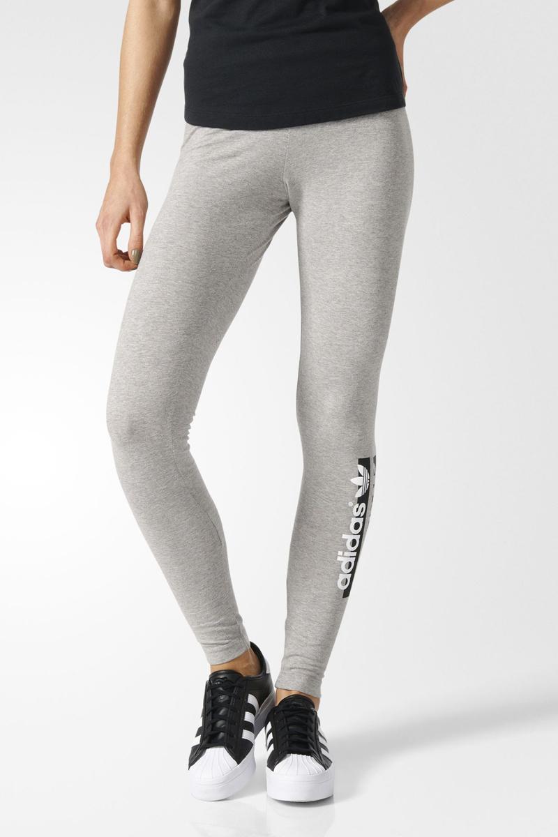 Леггинсы женские adidas Leggings, цвет: серый. BK5811. Размер 38 (46)BK5811Леггинсы женские adidas Leggings выполнены из хлопка и эластана. Модель дополнена эластичным поясом и оформленана логотипом бренда.