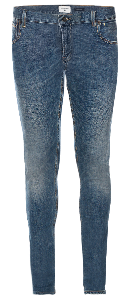 Джинсы мужские Quiksilver, цвет: синий. EQYDP03320-BYGW. Размер 32-32 (50-32)EQYDP03320-BYGWМужские джинсы Quiksilver выполнены из высококачественного эластичного хлопка. Джинсы-скинни стандартной посадки застегиваются на пуговицу в поясе и ширинку на застежке-молнии, дополнены шлевками для ремня. Джинсы имеют классический пятикарманный крой: спереди модель дополнена двумя втачными карманами и одним маленьким накладным кармашком, а сзади - двумя накладными карманами. Модель украшена декоративными потертостями.