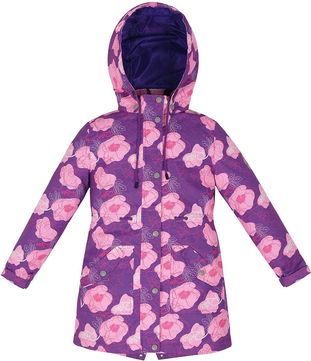 Куртка для девочки Reike Мальва, цвет: фиолетовый. 35948335. Размер 158, 13 лет35 948 335_Mallow violetСтильная куртка для девочки Reike Мальва выполнена из ветрозащитного, водоотталкивающего и дышащего материала с подкладкой из микрофлиса, обеспечивающей дополнительный комфорт. Модель с воротником-стойкой, защищающим от ветра, застегивается на молнию с ветрозащитной планкой на кнопках и оформлена цветочным принтом в стиле серии. Манжеты рукавов на резинке дополнительно регулируются с помощью липучек. Модель дополнена съемным капюшоном, двумя накладными карманами и шнуровкой по линии талии и в капюшоне. На капюшоне располагается светоотражающий элемент. Особенности изделия:- базовый уровень; - коэффициент воздухопроницаемости: 2000гр/м2/24 ч;- водоотталкивающее покрытие: 2000 мм.