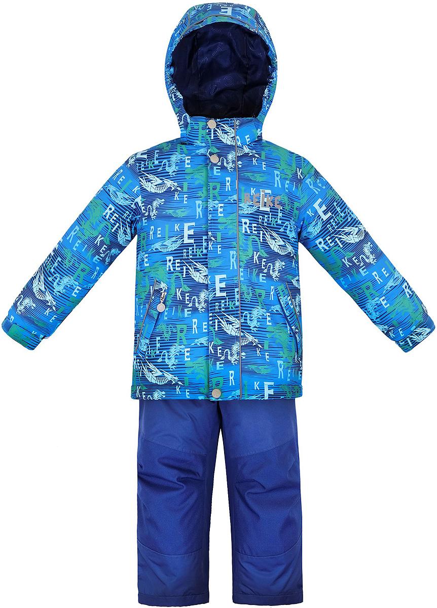 Комплект верхней одежды для мальчика Reike Драконы: куртка, полукомбинезон, цвет: синий. 36942220. Размер 122, 7 лет36 942 220_Dragons blueКомплект для мальчика Reike Драконы, состоящий из куртки и полукомбинезона, выполнен из ветрозащитного, водонепроницаемого, дышащего и износостойкого материала, декорированного ярким принтом с драконами. Все швы комплекта проклеены, чтобы вода или влага не попали внутрь. Подкладка куртки из микрофлиса обеспечит дополнительное тепло и комфорт. Манжеты рукавов утягиваются липучками. Модель дополнена съемным капюшоном с полосками светоотражателя, двумя карманами на молнии и регулирующейся утяжкой по низу. Ветрозащитные планки на липучках вдоль молнии со светоотражающими полосками не допускают проникновения холодного воздуха.Завышенная талия и регулируемые подтяжки полукомбинезона гарантируют удобную посадку по фигуре. Колени, задняя поверхность бедер и низ брюк дополнительно упрочнены сверхпрочным материалом. Брюки оснащены светоотражателями, двумя боковыми карманами на молнии и регулятором длины.Особенности комплекта: - технологический уровень;- коэффициент воздухопроницаемости: 3000гр/м2/24 ч;- водоотталкивающее покрытие: 5000 мм;- износостойкость: 50 000 (тест Мартиндейла).