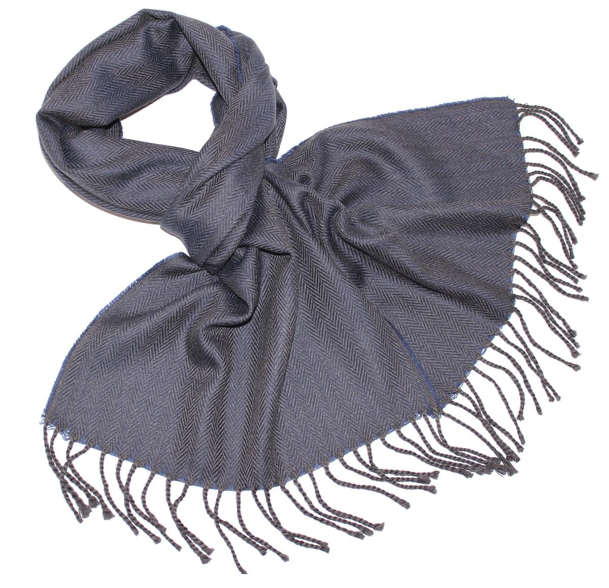 Шарф мужской Ethnica, цвет: темно-серый, синий. 122510a. Размер 35 см х 180 см122510aМужской шарф Ethnica, изготовленный из 100% шерсти, подчеркнет вашу индивидуальность. Благодаря своему составу, он легкий, мягкий и приятный на ощупь. Изделие выполнено в строгом дизайне, дополнено орнаментом и кисточками.Такой аксессуар станет стильным дополнением к вашему гардеробу.