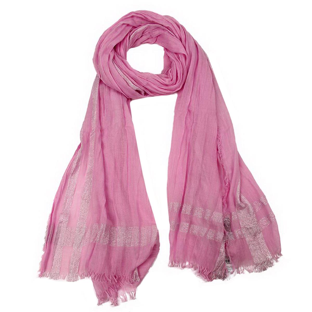 Палантин Venera, цвет: розовый, серебристый. 3413241. Размер 70 см х 200 см3413241Палантин Venera выполнен из вискозы с добавлением шелка. Материал мягкий, уютный и приятный на ощупь. Модель выполнена в однотонном дизайне. Отличный выбор для повседневного городского образа.