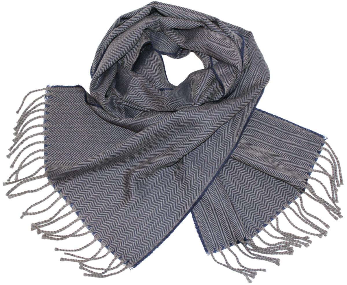 Шарф мужской Ethnica, цвет: серый, синий. 122510a. Размер 35 см х 180 см122510aМужской шарф Ethnica, изготовленный из 100% шерсти, подчеркнет вашу индивидуальность. Благодаря своему составу, он легкий, мягкий и приятный на ощупь. Изделие выполнено в строгом дизайне, дополнено орнаментом и кисточками.Такой аксессуар станет стильным дополнением к вашему гардеробу.