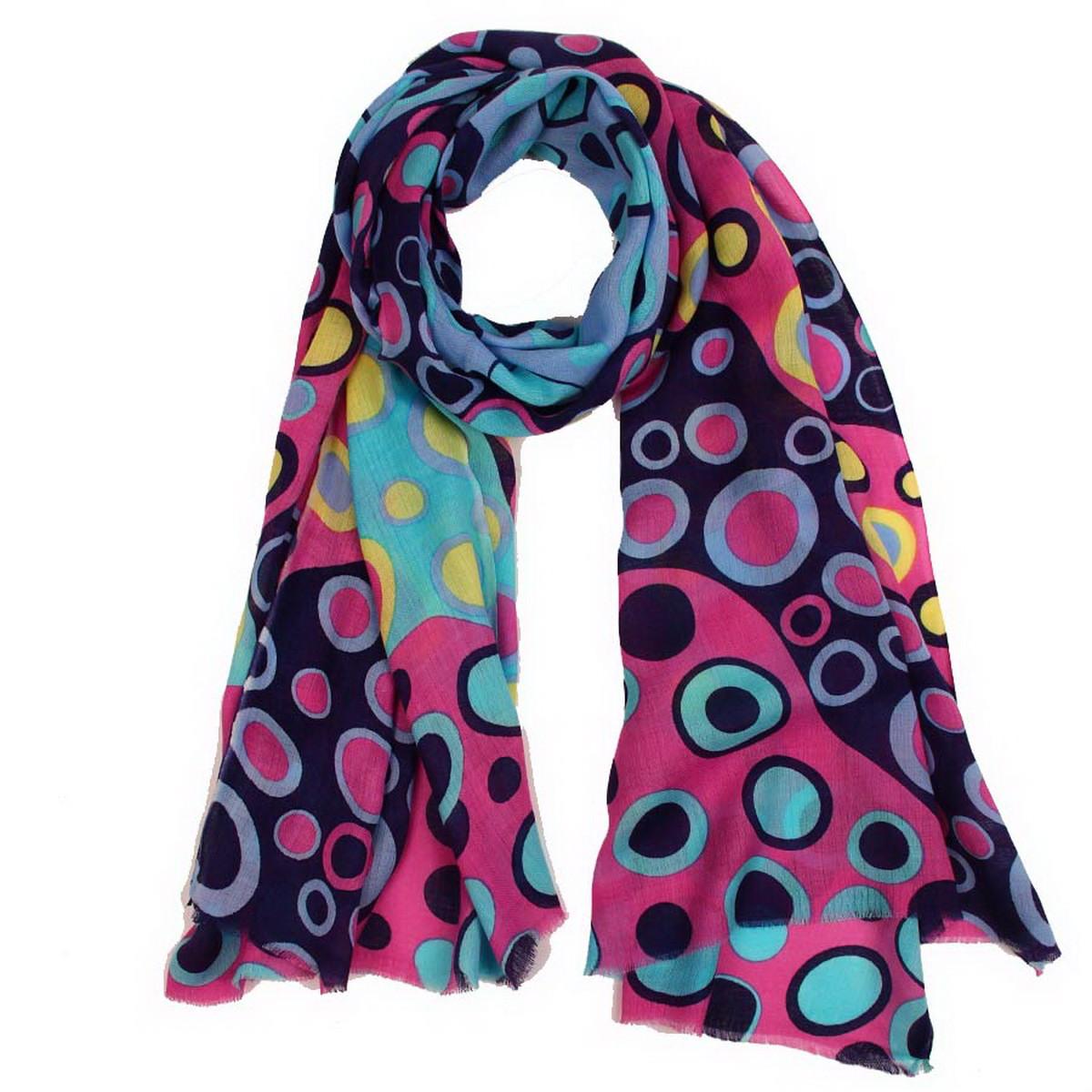 Палантин Venera, цвет: синий, голубой, розовый. 6300658-12. Размер 70 см х 180 см6300658-12Палантин Venera выполнен из 100% модала. Материал мягкий, уютный и приятный на ощупь. Модель дополнена ярким красивым принтом. Отличный выбор для повседневного городского образа.