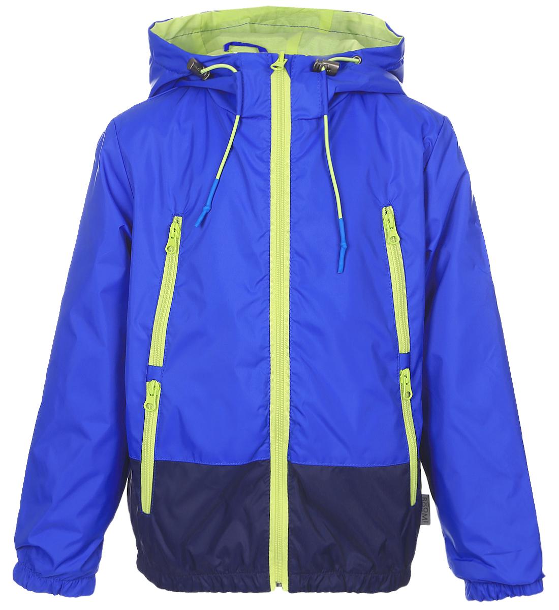 Куртка для мальчика Boom!, цвет: синий. 70038_BOB_вар.1. Размер 140, 10-11 лет70038_BOB_вар.1Легкая куртка для мальчика Boom! c длинными рукавами и несъемным капюшоном выполнена из прочного полиэстера. Модель застегивается на застежку-молнию спереди. Объем капюшона регулируется при помощи шнурка-кулиски со стопперами. Изделие имеет четыре прорезных кармана на застежках-молниях спереди. Рукава оснащены широкими эластичными манжетами. Модель растет вместе с ребенком: специальный крой позволяет при необходимости увеличить длину рукавов на один размер.