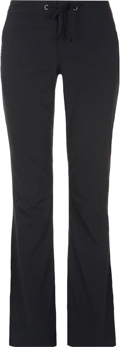 Брюки туристические женские Columbia Anytime Outdoor Boot Cut Pant, цвет: черный. 1467061-010. Размер 6 (46)1467061-010Женские брюки Columbia из высококачественного нейлона и эластана станут отличным выбором для походов и долгих прогулок. Благодаря технологии Omni-Shield ткань не впитывает влагу и сохнет в 5 раз быстрее аналогов. Эластан в составе ткани обеспечивает комфортную посадку и свободу движений. Регулируемый пояс обеспечивает удобную индивидуальную посадку. Технология Omni-Shade блокирует вредное солнечное излучение. Модель дополнена тремя карманами.