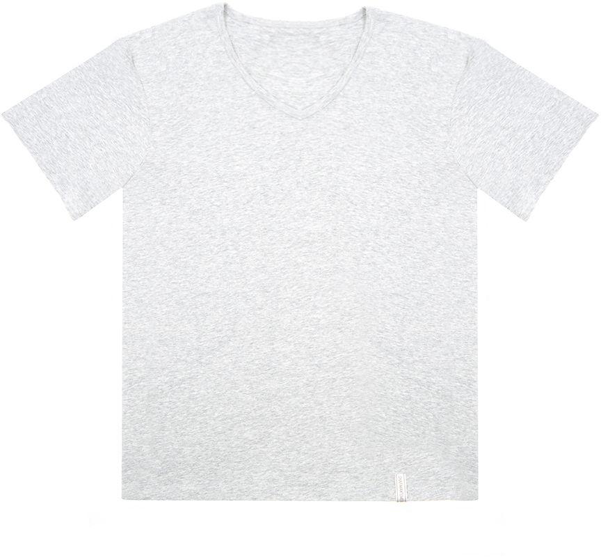 Футболка мужская Charmante, цвет: серый. ISMF 671610C. Размер M (48)ISMF 671610CМужская футболка Charmante выполнена из высококачественного материала. Модель с V-образным вырезом горловины и короткими рукавами.