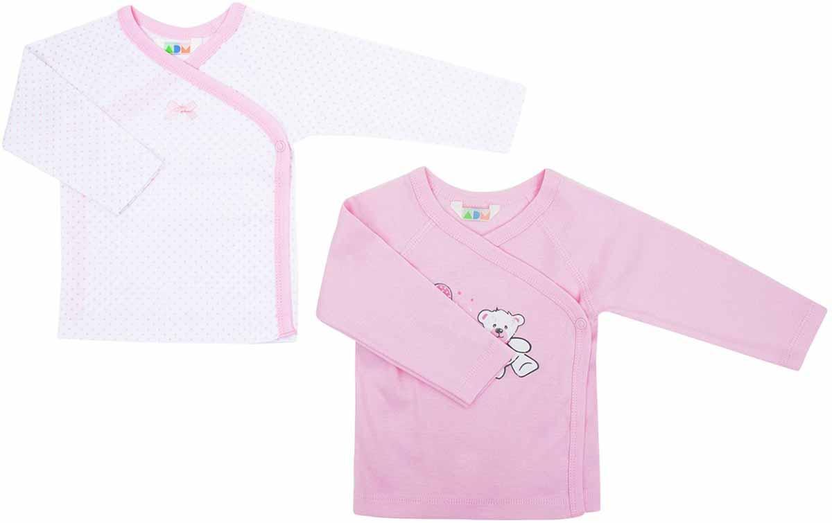 Распашонка для девочек Axiome De Mode, цвет: розовый, 2 шт. 16-8100. Размер 68, 6мес16-8100