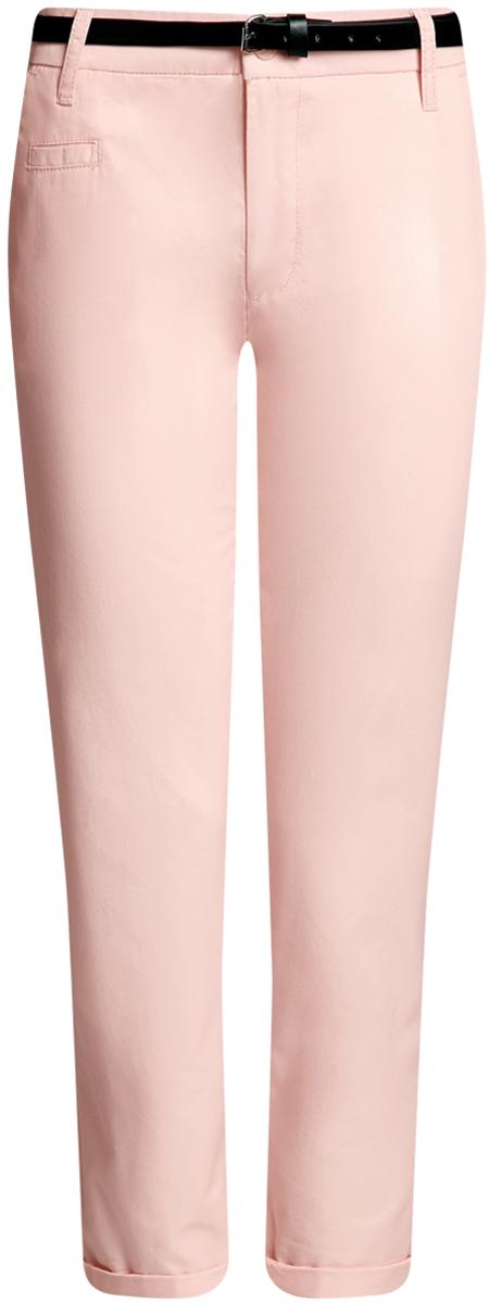 Брюки женские oodji Ultra, цвет: светло-розовый. 11706193B/42841/4000N. Размер 42-170 (48-170)11706193B/42841/4000NЖенские брюки oodji Ultra выполнены из высококачественного материала. Модель-чинос стандартной посадки застегивается на пуговицу в поясе и ширинку на застежке-молнии. Пояс имеет шлевки для ремня. Спереди брюки дополнены втачными карманами, сзади - прорезными на пуговицах. К модели прилагается ремешок.