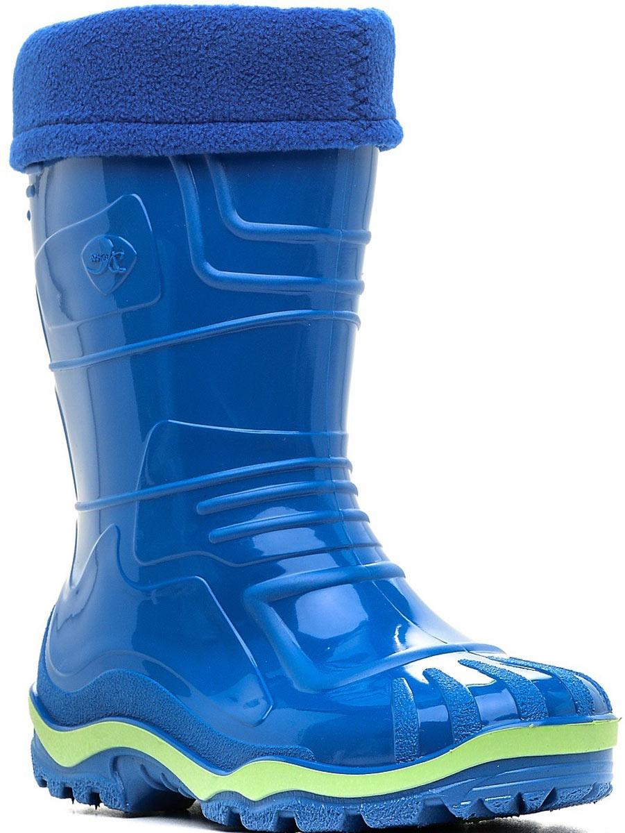 Сапоги резиновые детские Дюна, цвет: светло-синий. 230/02 УФ. Размер 31230/02 УФРезиновые сапоги Дюна придутся по душе вам и вашему ребенку! Модель изготовлена из качественной резины и оформлена яркой, контрастной полосой на подошве. Главным преимуществом резиновых сапожек является наличие съемного текстильного чулка, который можно вынуть и легко просушить. Подошва с глубоким рисунком протектора обеспечивает отличное сцепление на любой поверхности.