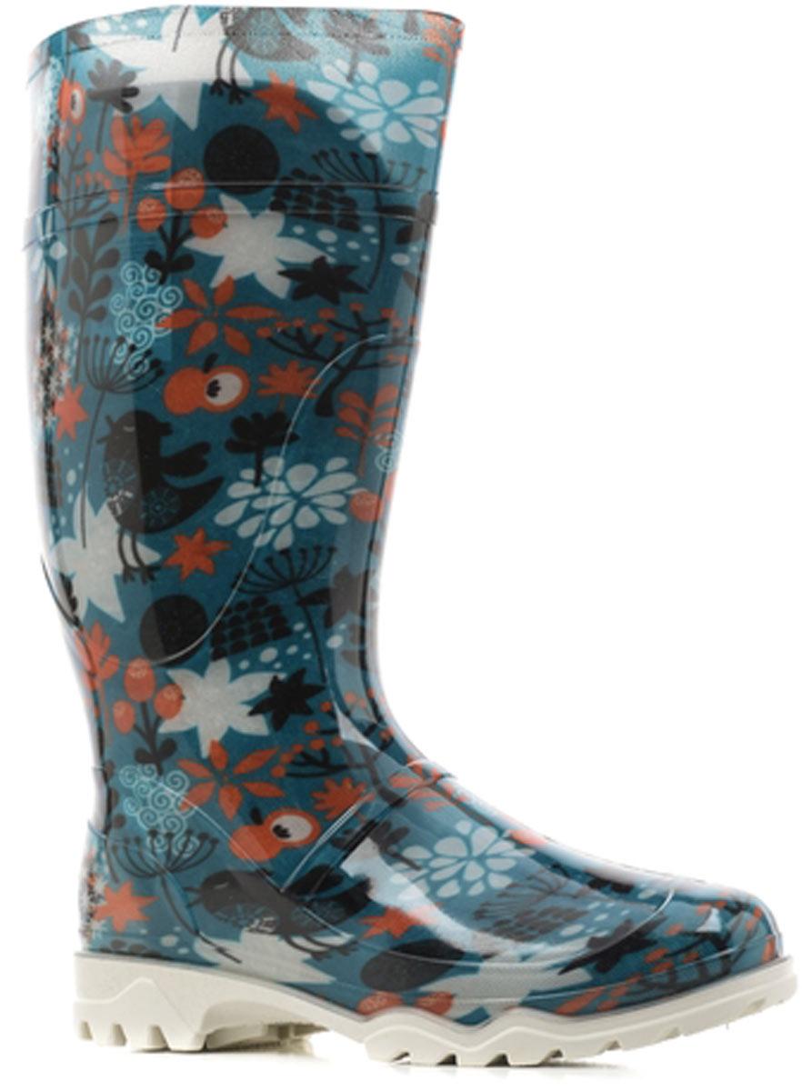 Сапоги резиновые женские Дюна, цвет: бирюзовый. 370 РУ (НТП)_птички на бирюзовом. Размер 35370 РУ (НТП)_птички на бирюзовомРезиновые сапоги от Дюна - превосходно защитят ваши ноги от промокания в дождливый день.Модель полностью выполнена из ПВХ, обладающего высокой эластичностью, 100% водонепроницаемостью, амортизационными свойствами и герметичностью, и оформлена оригинальным принтом. Мягкий вынимающийся сапожок из искусственного меха не даст ногам замерзнуть и обеспечит комфорт. Ширина голенища компенсирует отсутствие застежек. Рельефная поверхность подошвы гарантирует отличное сцепление с любой поверхностью. Удобные сапоги поднимут вам настроение в дождливую погоду!
