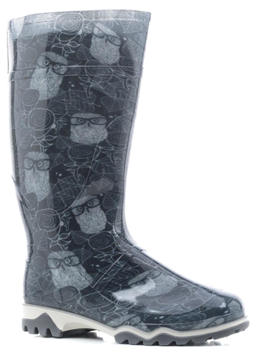 Сапоги резиновые женские Дюна, цвет: серый. 370 РУ (НТП)_совы в очках серый. Размер 35370 РУ (НТП)_совы в очках серыйРезиновые сапоги от Дюна - превосходно защитят ваши ноги от промокания в дождливый день.Модель полностью выполнена из ПВХ, обладающего высокой эластичностью, 100% водонепроницаемостью, амортизационными свойствами и герметичностью, и оформлена оригинальным принтом. Мягкий вынимающийся сапожок из искусственного меха не даст ногам замерзнуть и обеспечит комфорт. Ширина голенища компенсирует отсутствие застежек. Рельефная поверхность подошвы гарантирует отличное сцепление с любой поверхностью. Удобные сапоги поднимут вам настроение в дождливую погоду!