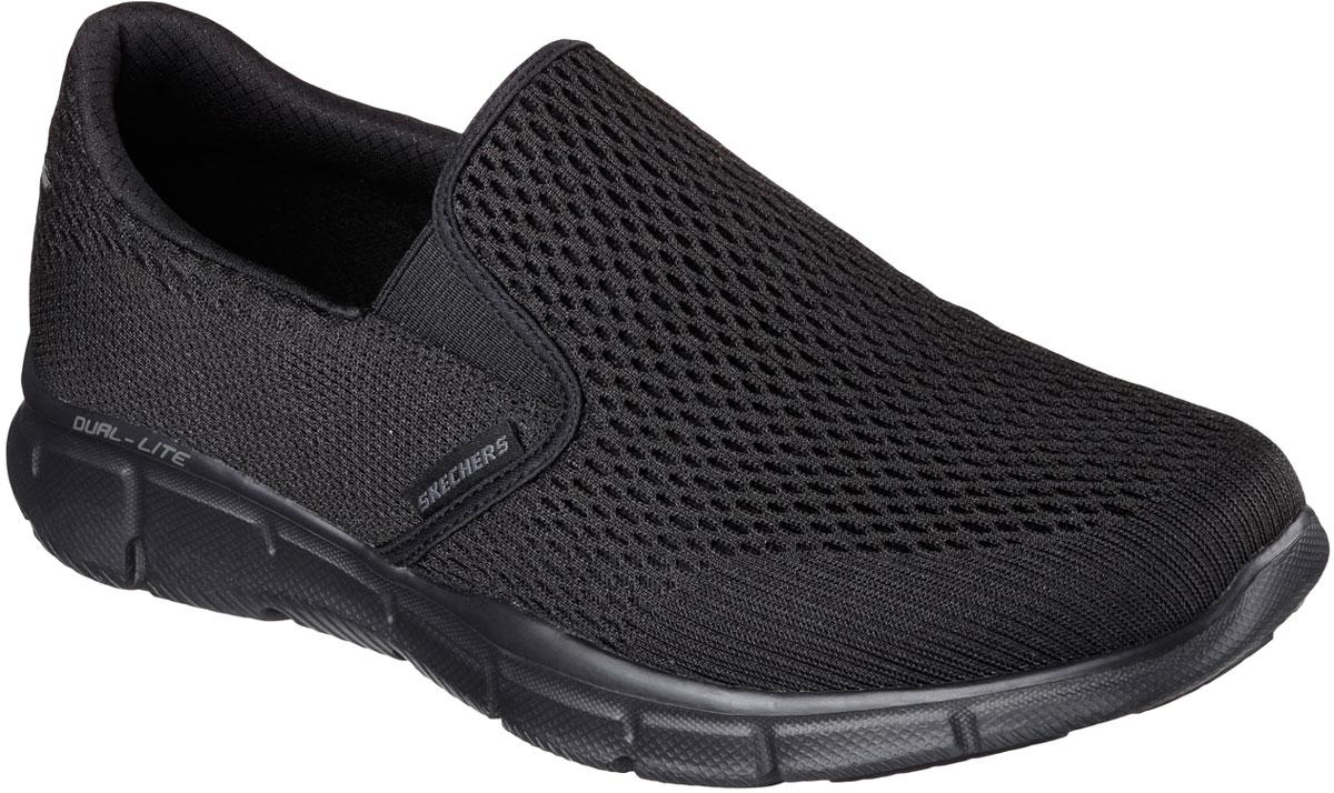 Кроссовки мужские Skechers Equalizer - Double Play, цвет: черный. 51509-BBK. Размер 9,5 (43)51509-BBKСтильные мужские кроссовки Skechers отлично подойдут для активного отдыха и повседневной носки. Верх модели выполнен из текстиля. Благодаря эластичным вставкам на подъеме кроссовки удобно надевать. Подошва обеспечивает легкость и естественную свободу движений. Мягкие и удобные, кроссовки превосходно подчеркнут ваш спортивный образ и подарят комфорт.