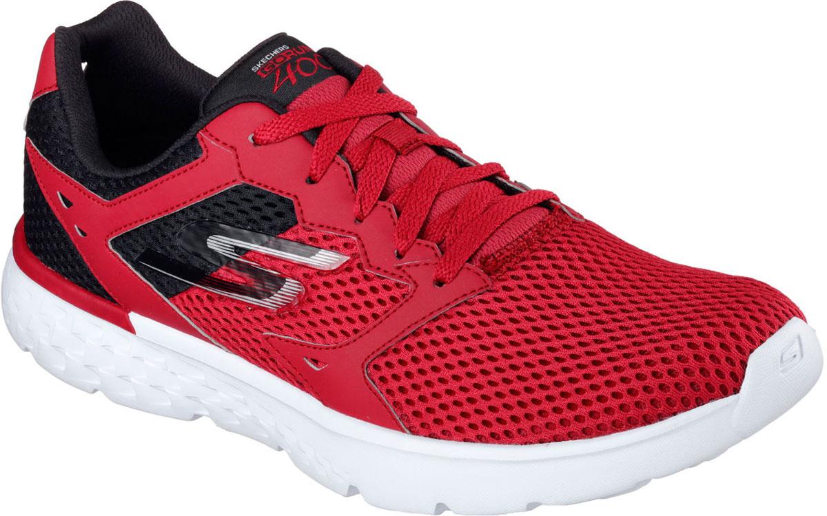 Кроссовки мужские Skechers Go Run 400, цвет: красный. 54350-RDBK. Размер 11 (45)54350-RDBKСтильные мужские кроссовки Skechers отлично подойдут для активного отдыха и повседневной носки. Верх модели выполнен из текстиля. Удобная шнуровка надежно фиксирует модель на стопе. Подошва обеспечивает легкость и естественную свободу движений. Мягкие и удобные, кроссовки превосходно подчеркнут ваш спортивный образ и подарят комфорт.