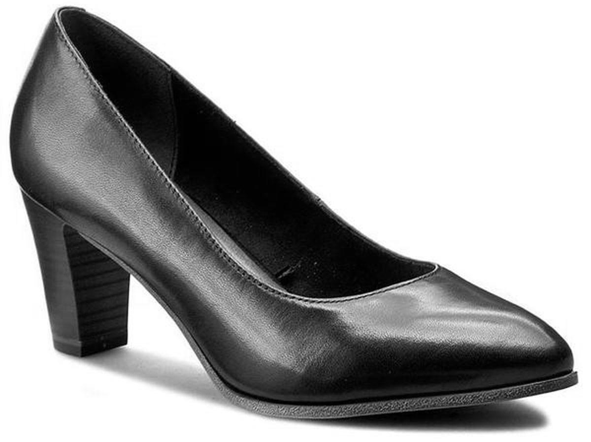 Туфли женские Tamaris, цвет: черный. 1-1-22422-28-001/209. Размер 401-1-22422-28-001/209Туфли Tamaris выполнены из натуральной кожи. Внутренняя поверхность выполнены из ворсистого текстиля, комфортного при движении. Стелька выполнена из искусственной кожи. Подошва изготовлена из термопластичной резины и дополнена невысоким устойчивым каблуком.