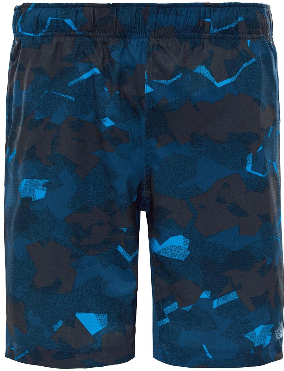 Шорты спортивные мужские The North Face M Ampere Dual Short, цвет: синий, коричневый. T92RTRRFC. Размер XL (54)T92RTRRFCШорты мужские The North Face изготовлены из качественной ткани. Модель выполнена с широкой резинкой на поясе. Изделие дополнено карманами.