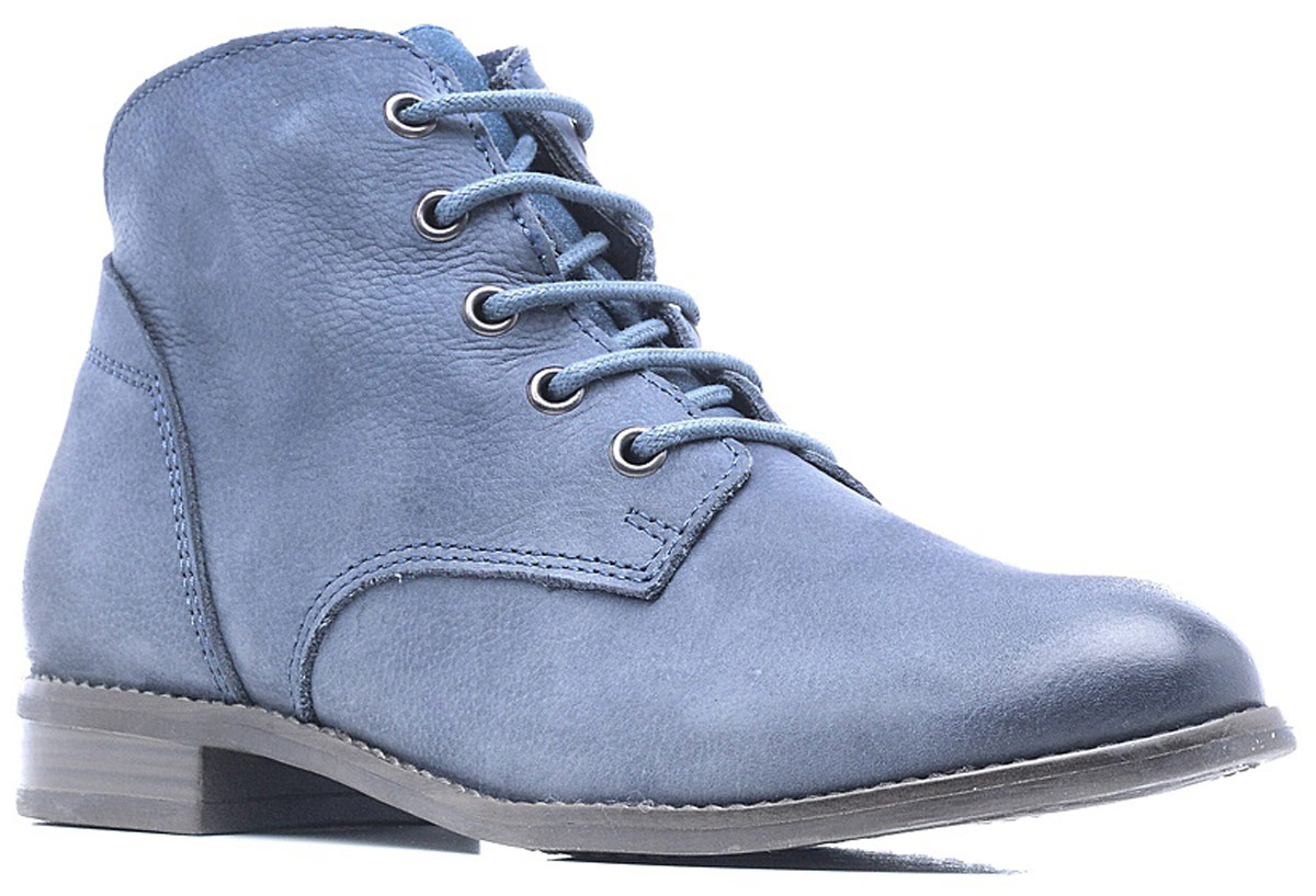 Ботинки женские Tamaris, цвет: синий. 1-1-25100-28-805/225. Размер 391-1-25100-28-805/225Стильные женские ботинки от Tamaris очаруют вас с первого взгляда. Модель выполнена из натуральной кожи и фиксируется на ноге при помощи классической шнуровки. Подкладка из текстиля обеспечит комфорт при движении. Стелька выполнена из искусственной кожи. Подошва оснащена рифлением.