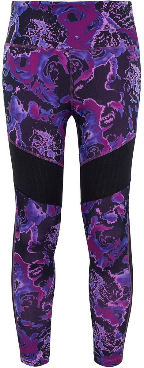Тайтсы женские The North Face W Mtvn Mesh Legging, цвет: фиолетовый, черный. T92V9DSLP. Размер S (42)T92V9DSLPТайтсы женские The North Face изготовлены из качественной смесовой ткани. Тайтсы дополнены широкой эластичной резинкой на поясе и оригинальным принтом.