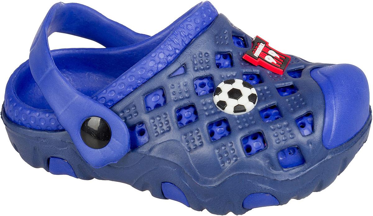 Кроксы для мальчика Mursu, цвет: синий. 101403. Размер 28101403Удобные кроксы Mursu незаменимы для пляжного сезона. Легкая модель полностью выполнена из качественного полимерного материала. У кроксов имеется подвижный ремешок с пластиковыми кнопками. Носочная часть оформлена оригинальными декоративными элементами. Большое количество дырочек в верхней части обуви обеспечивает вентиляцию ноги.