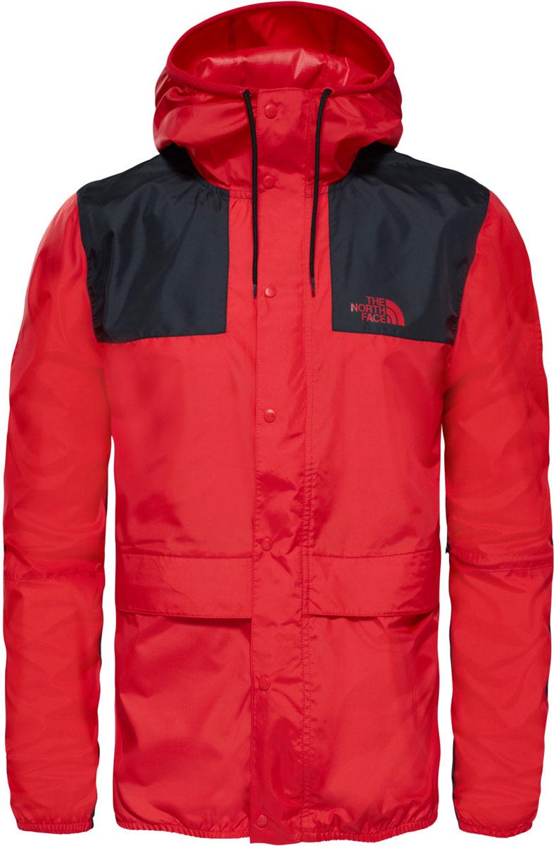 Ветровка мужская The North Face M 1985 Mountain Jacket, цвет: красный. T0CH37KZ3. Размер M (50)T0CH37KZ3Мужская ветровка The North Face с длинными рукавами и капюшоном застегивается на молнию и кнопки. Капюшон дополнен шнурком-утяжкой. Благодаря верху из легкого полиэстера и множеству проверенных функций эта куртка - отличный выбор для ценителей традиций и активного отдыха.