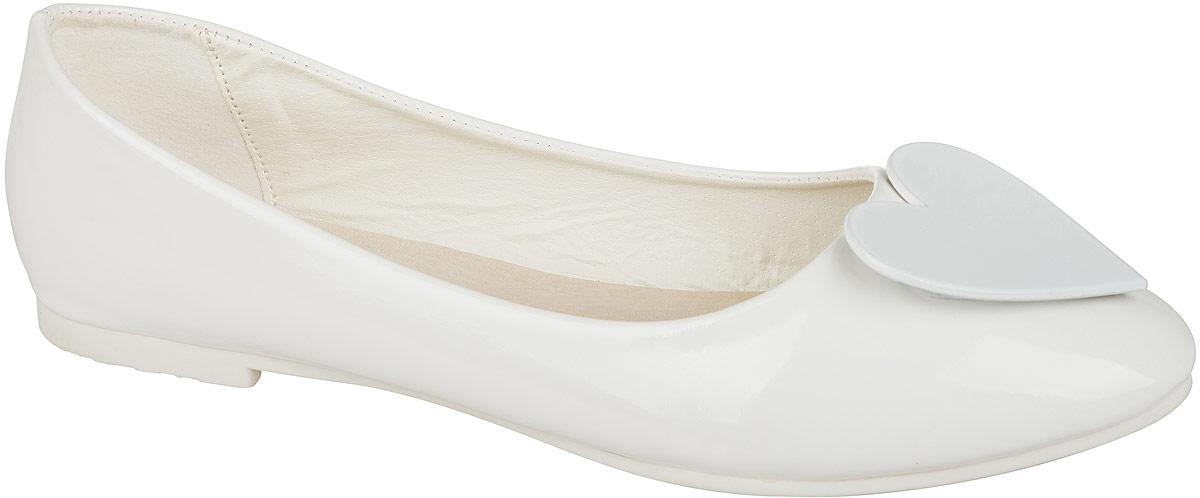 Туфли для девочки Mursu, цвет: белый. 101531. Размер 35101531Стильные и удобные туфли для девочки Mursu выполнены из качественной искусственной кожи. Стелька из натуральной кожи придаст максимальный комфорт при движении. Туфли оформлены оригинальным декоративным элементом.