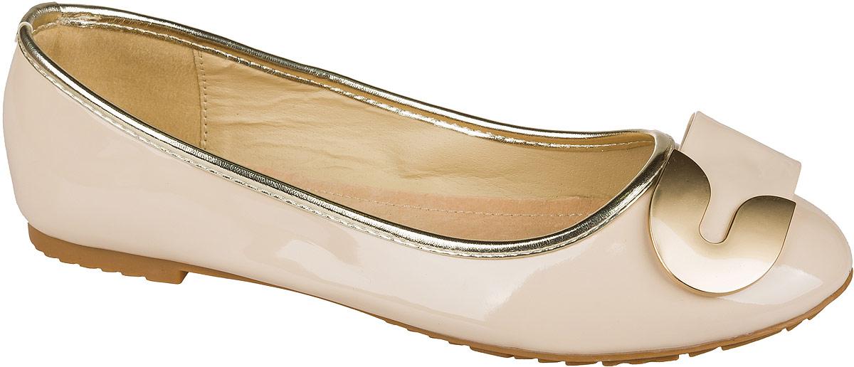 Туфли для девочки Mursu, цвет: бежевый. 101532. Размер 36101532Стильные и удобные туфли для девочки Mursu выполнены из качественной искусственной кожи. Стелька из натуральной кожи придаст максимальный комфорт при движении. Туфли оформлены оригинальным декоративным элементом.