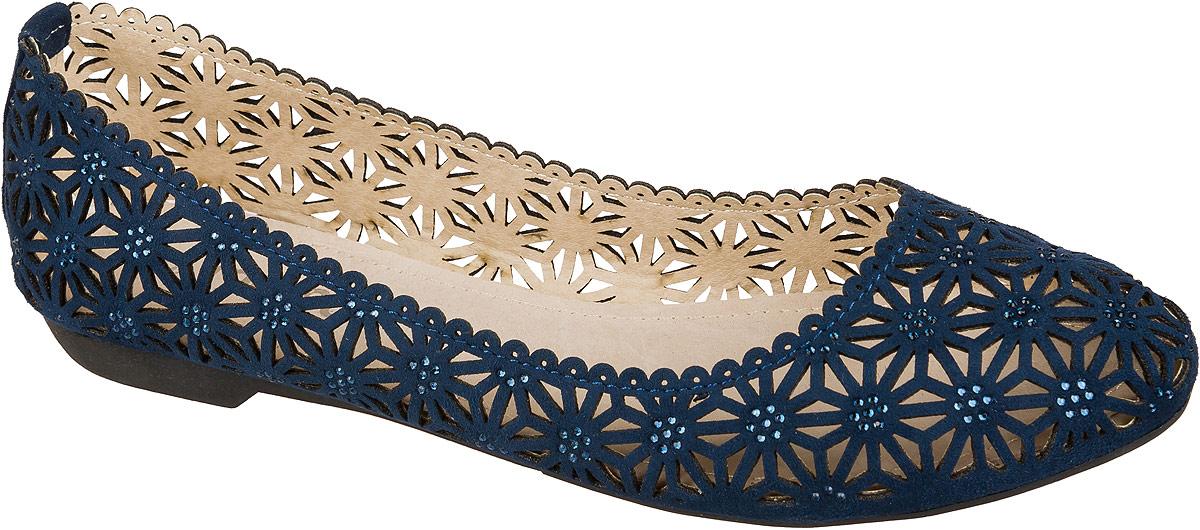Туфли для девочки Mursu, цвет: темно-синий. 101542. Размер 36101542Стильные и удобные туфли для девочки Mursu выполнены из перфорированной искусственной кожи. Стелька из натуральной кожи придаст максимальный комфорт при движении. Туфли декорированы мелкими металлическими элементами.